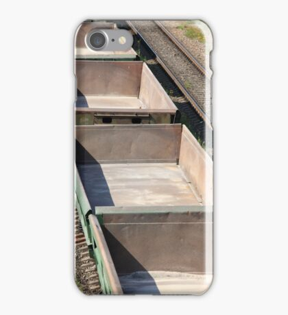empty railway cars iPhone Case/Skin