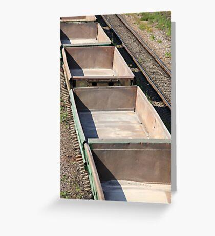 empty railway cars Greeting Card