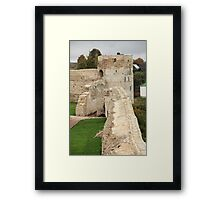 old fortress wall Framed Print