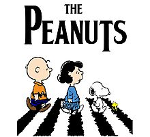 Peanuts Abbey Road Photographic Print