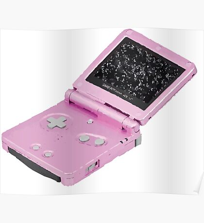 Pink GBA SP Poster