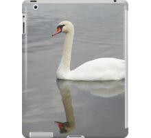 swan mirror reflection iPad Case/Skin