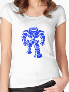 Manbot - Blue Variant Women's Fitted Scoop T-Shirt