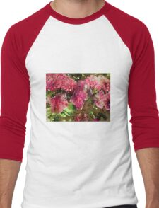 Hydrangea Watercolour Men's Baseball ¾ T-Shirt