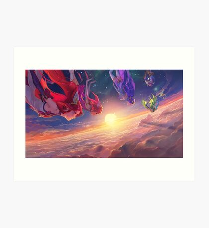 Falling Star Guardians Art Print