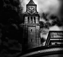 Clock Tower No 10 Scrivener Square Toronto Canada by Brian Carson