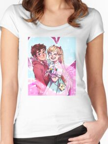 Star Butterfly & Marco, best buds extraordinaires Women's Fitted Scoop T-Shirt