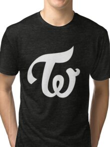 TWICE KPOP LOGO - WHITE Tri-blend T-Shirt