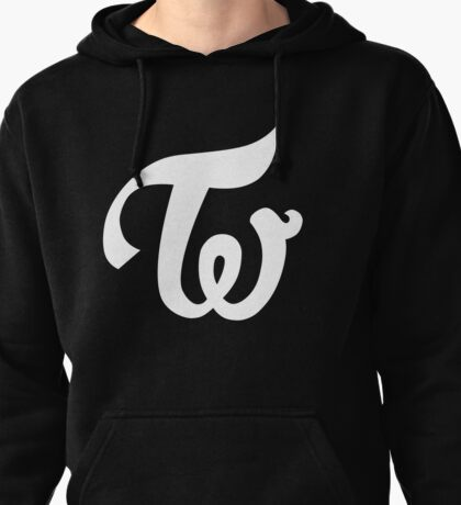 TWICE KPOP LOGO - WHITE Pullover Hoodie