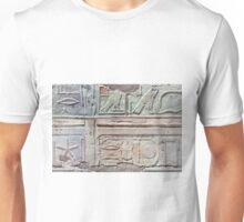 Heiroglyphs at the Temple of Queen Hatshepsut Unisex T-Shirt
