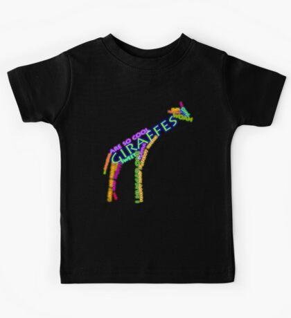 giraffe typography Kids Tee