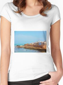 atlantic  view  Women's Fitted Scoop T-Shirt