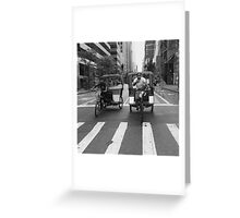 Pedicab swag Greeting Card