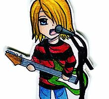 Chibi Kurt Cobain by Nathair23