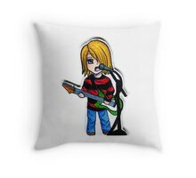 Chibi Kurt Cobain Throw Pillow
