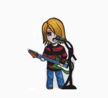 Chibi Kurt Cobain Kids Tee