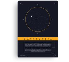 Cassiopeia Constellation Canvas Print