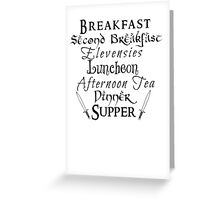 Second Breakfast Lord of the Rings Greeting Card
