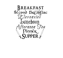 Second Breakfast Lord of the Rings Photographic Print