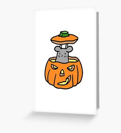 Jack O Lantern Mouse Greeting Card