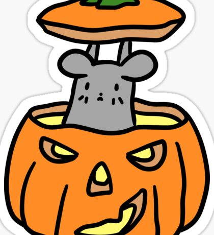 Jack O Lantern Mouse Sticker