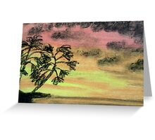 Reaching into the Sunset Greeting Card