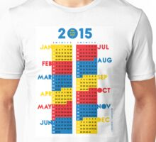 """2015 Calendar. Color blocks. """"This is my year!"""". Unisex T-Shirt"""