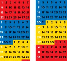 """2015 Calendar. Color blocks. """"This is my year!"""". Sticker"""