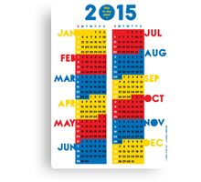 "2015 Calendar. Color blocks. ""This is my year!"". Canvas Print"