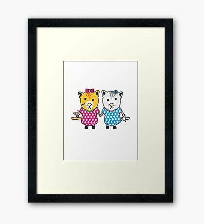 Miss Maple and Miss Neko Framed Print