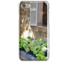 White Shutters And Green Hydrangea iPhone Case/Skin
