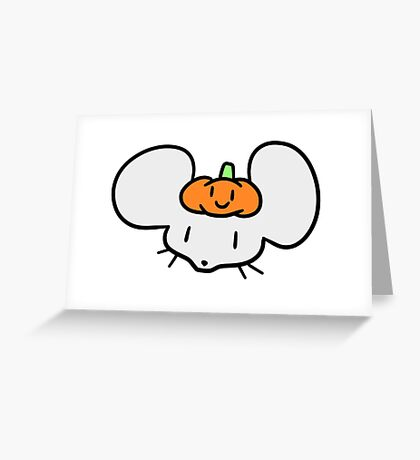 Pumpkin Mouse Face Greeting Card