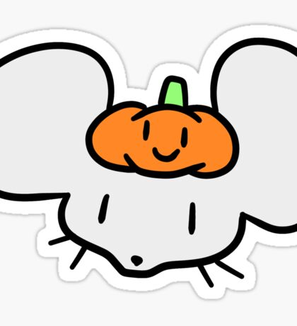 Pumpkin Mouse Face Sticker