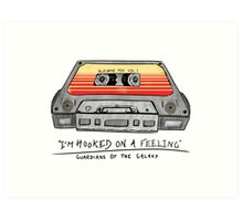 Awesome Mix Vol 1 Cassette Tape (Guardians of the Galaxy) Art Print