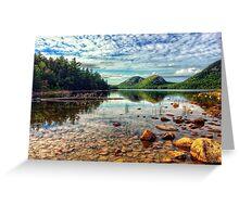 Jordan Pond, Acadia National Park, maine, USA Greeting Card