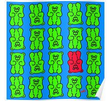 Gummy Bears Green and Red Poster