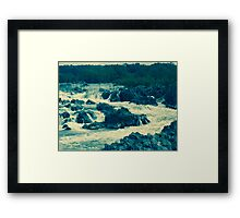 Potomac River Falls  If you like, please purchase an item, thanks Framed Print