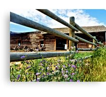 Montana Barn Canvas Print