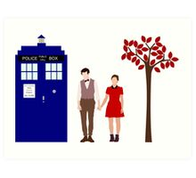 Clara and the 11th Doctor Art Print