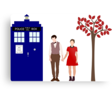 Clara and the 11th Doctor Metal Print
