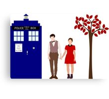 Clara and the 11th Doctor Canvas Print