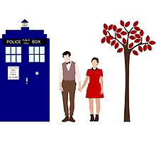 Clara and the 11th Doctor Photographic Print