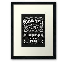 Heisenberg Pure Meth Framed Print