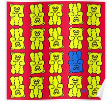 Gummy Bears Yellow and Blue Poster