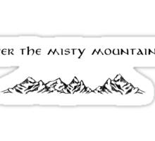 The Hobbit Misty Mountains Sticker