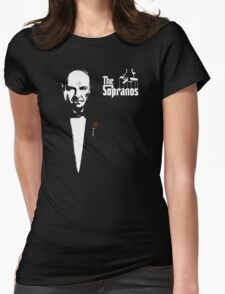 The Sopranos (The Godfather mashup) Womens Fitted T-Shirt