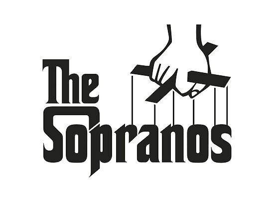 """The Sopranos Logo (The Godfather mashup) (Black)"" Posters ..."