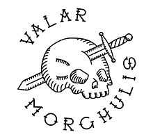 Valar Morghulis Black Chest Emblem by Aguvagu