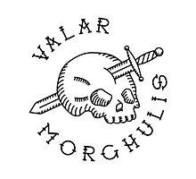 Valar Morghulis Black Chest Emblem Photographic Print