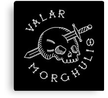 Valar Morghulis White Chest Emblem Canvas Print